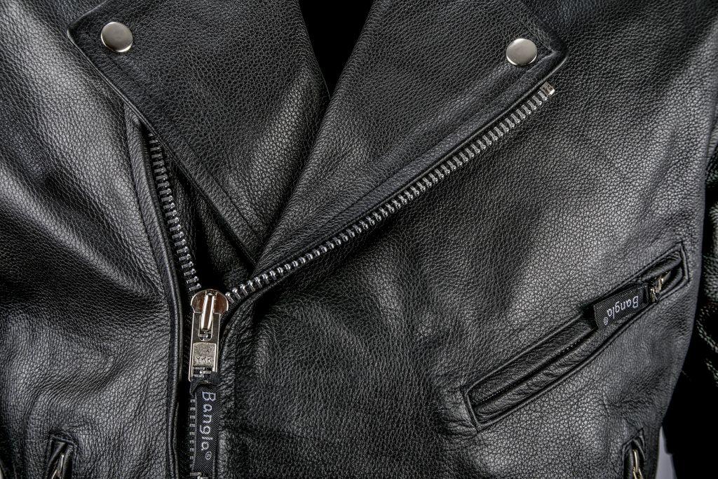 Motorrad Jacke Motorradjacke Leder Lederjacke Chopper Bangla schwarz S - 6 XL