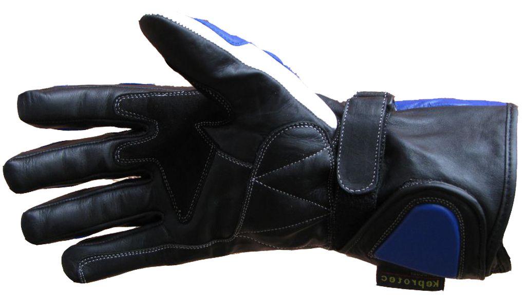 Bangla Motorradhandschuhe Motorrad Handschuhe Leder Quad Blau schwarz XS - XXL