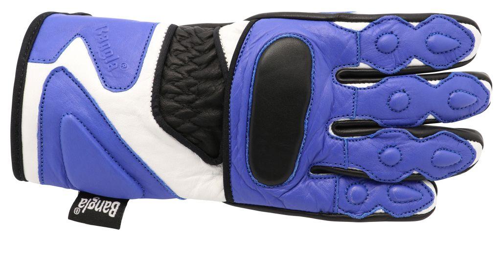 Bangla Kinder Motorradhandschuhe Motorrad Handschuhe Leder blau Gr 4 - 6