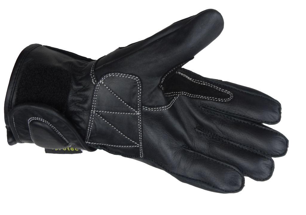 Bangla Kinder Motorradhandschuhe Motorrad Handschuhe Leder Schwarz Gr 4 5 6
