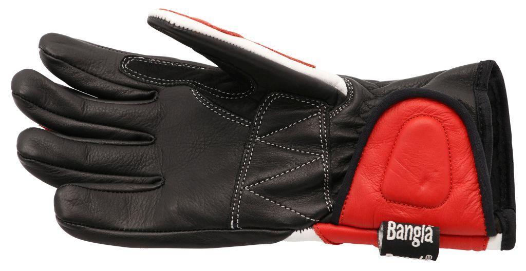 Bangla Kinder Motorradhandschuhe Motorrad Handschuhe Leder rot Gr 4 - 6