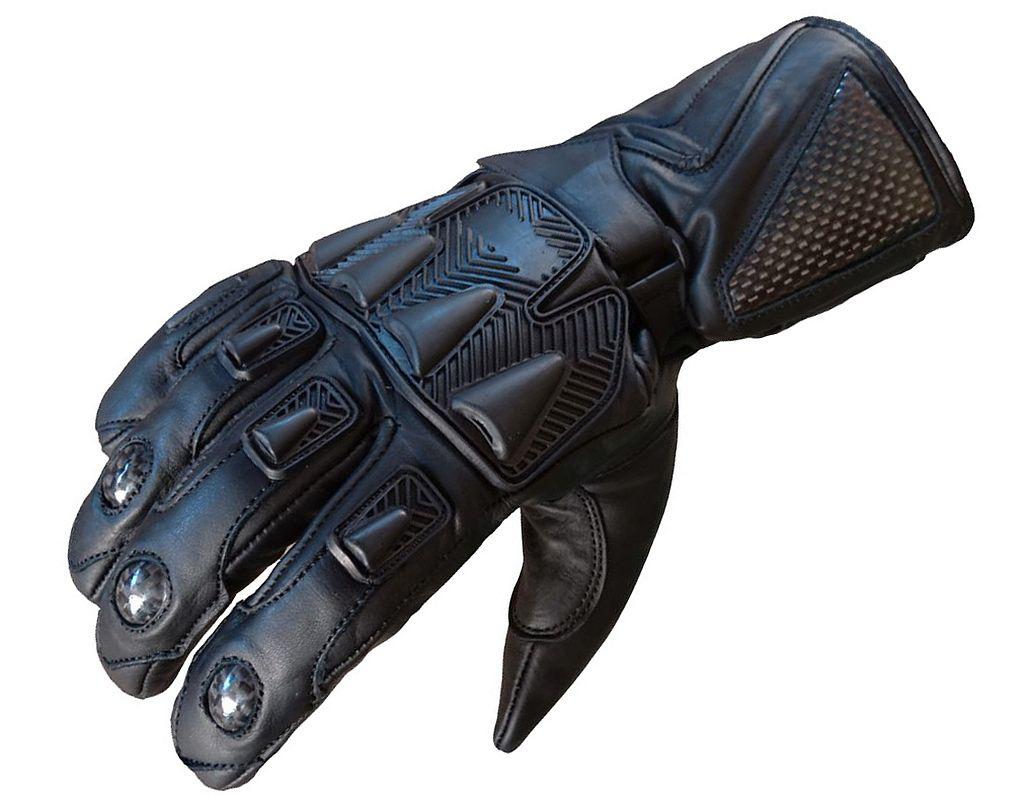Motorradhandschuhe Motorrad Handschuhe Leder Schwarz S M L XL XXL