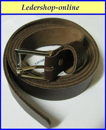 Leder Gürtel Überlänge Braun 110 cm Jeansgürtel 4 cm