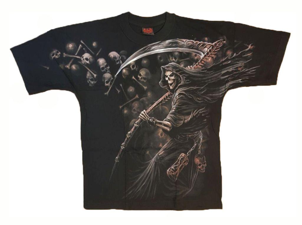 T-Shirt Gothic Dark Schwarz Herren Reaper Shirt The Reckoning M und L