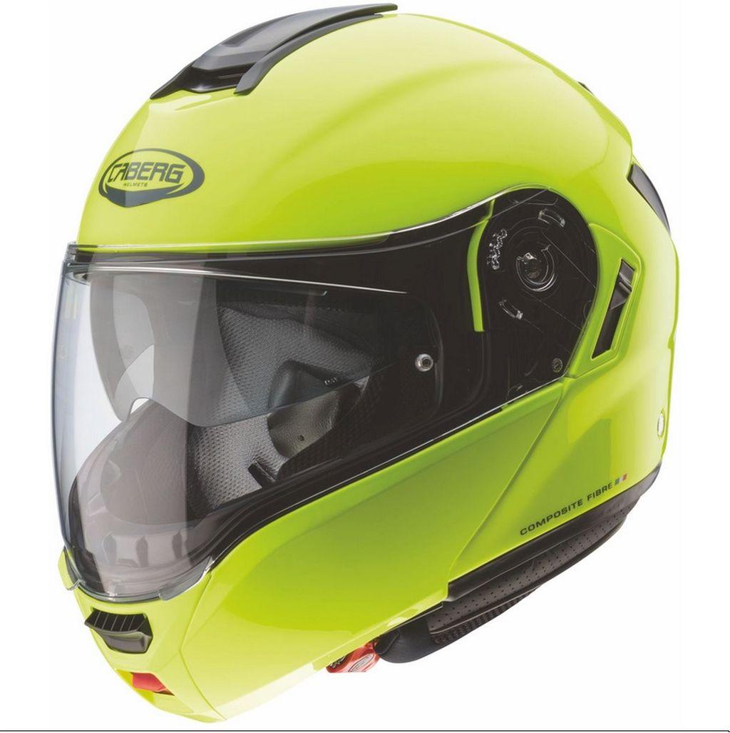 Caberg Motorrad Klapphelm Helm Levo breites Visier fluo gelb XS - XXL
