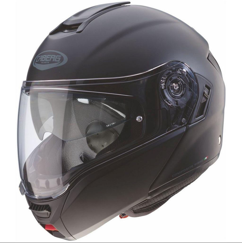 Caberg Motorrad Klapphelm Helm Levo breites Visier weiss schwarz blau XS - XXL