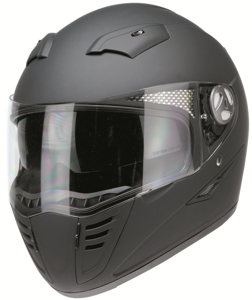 Motorradhelm Motorrad Roller Kart Helm Kochmann RB 1200 Matt Schwarz XS-XXL