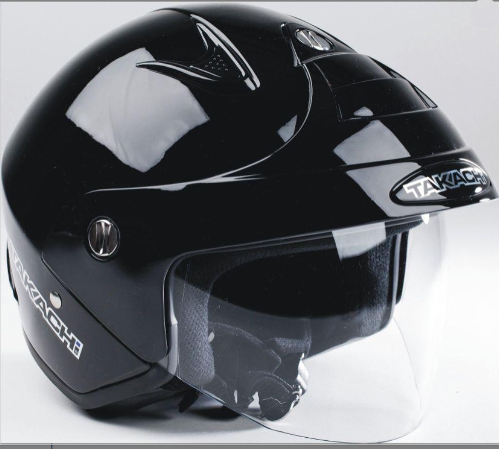 Jethelm City Helm Scooter Roller Enduro Motorrad Takachi TK 10 Schwarz XS - XXL