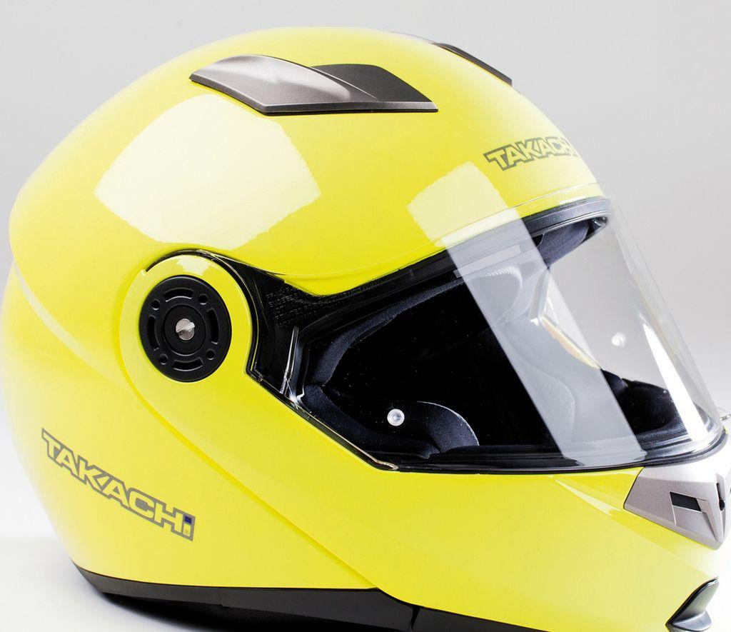Motorradhelm Motorrad Helm TK 380 DVS Fluo Gelb Klapphelm XS - XXL