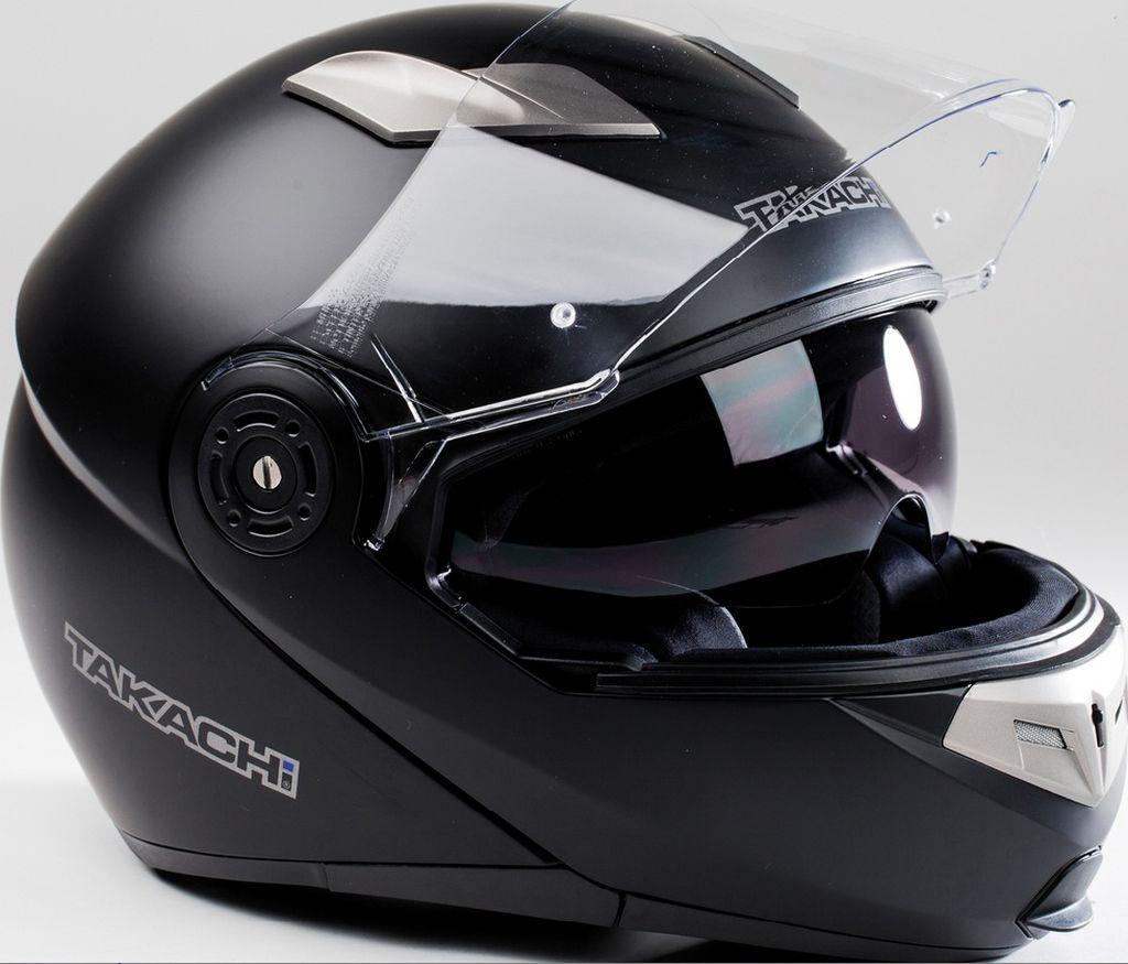 Motorradhelm Motorrad Helm TK 380 DVS Matt - Schwarz Klapphelm XS - XXL