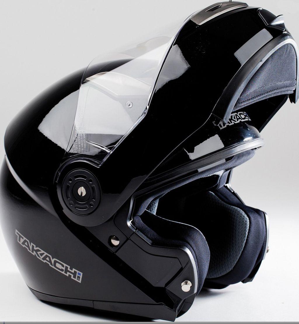 Motorradhelm Motorrad Helm TK 380 DVS Schwarz Klapphelm XS -  XXL