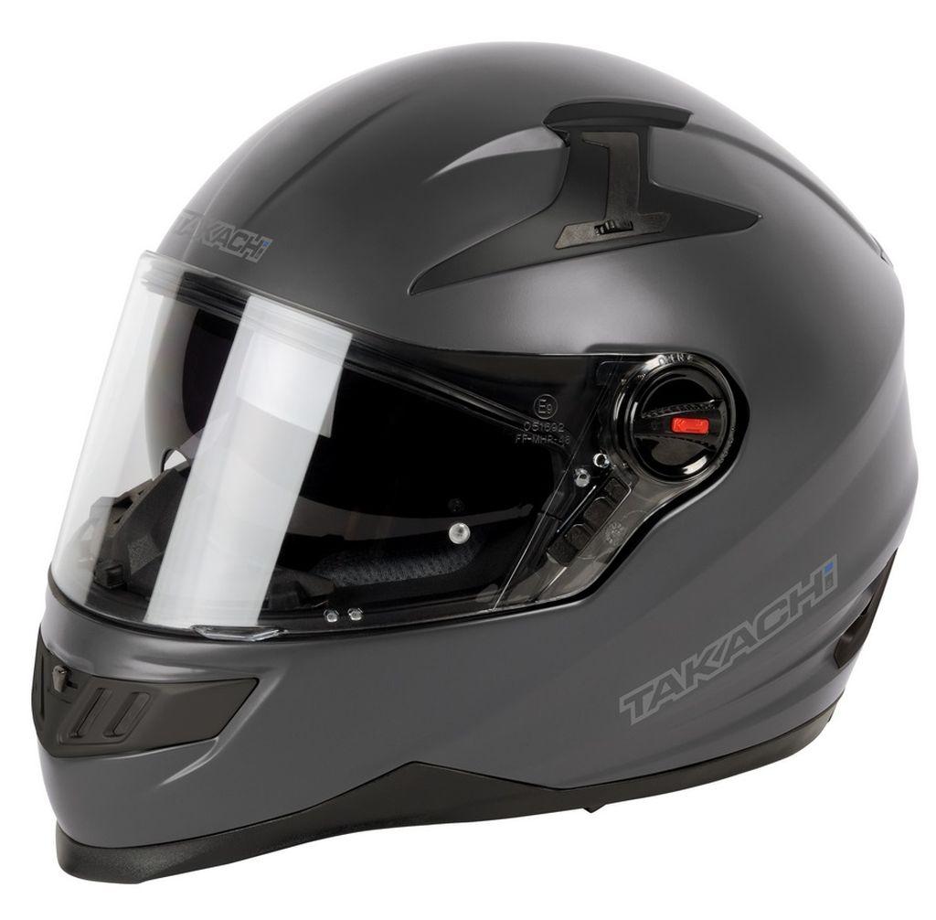Helm Takachi Integralhelm Motorradhelm Sonnenblende TK44 anthrazit matt XS - XXL