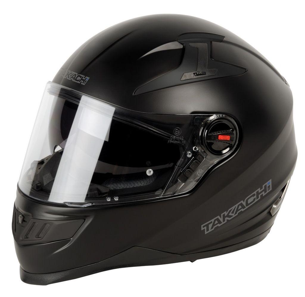 Helm Takachi Integralhelm Motorradhelm Sonnenblende TK44 satin schwarz XS - XXL