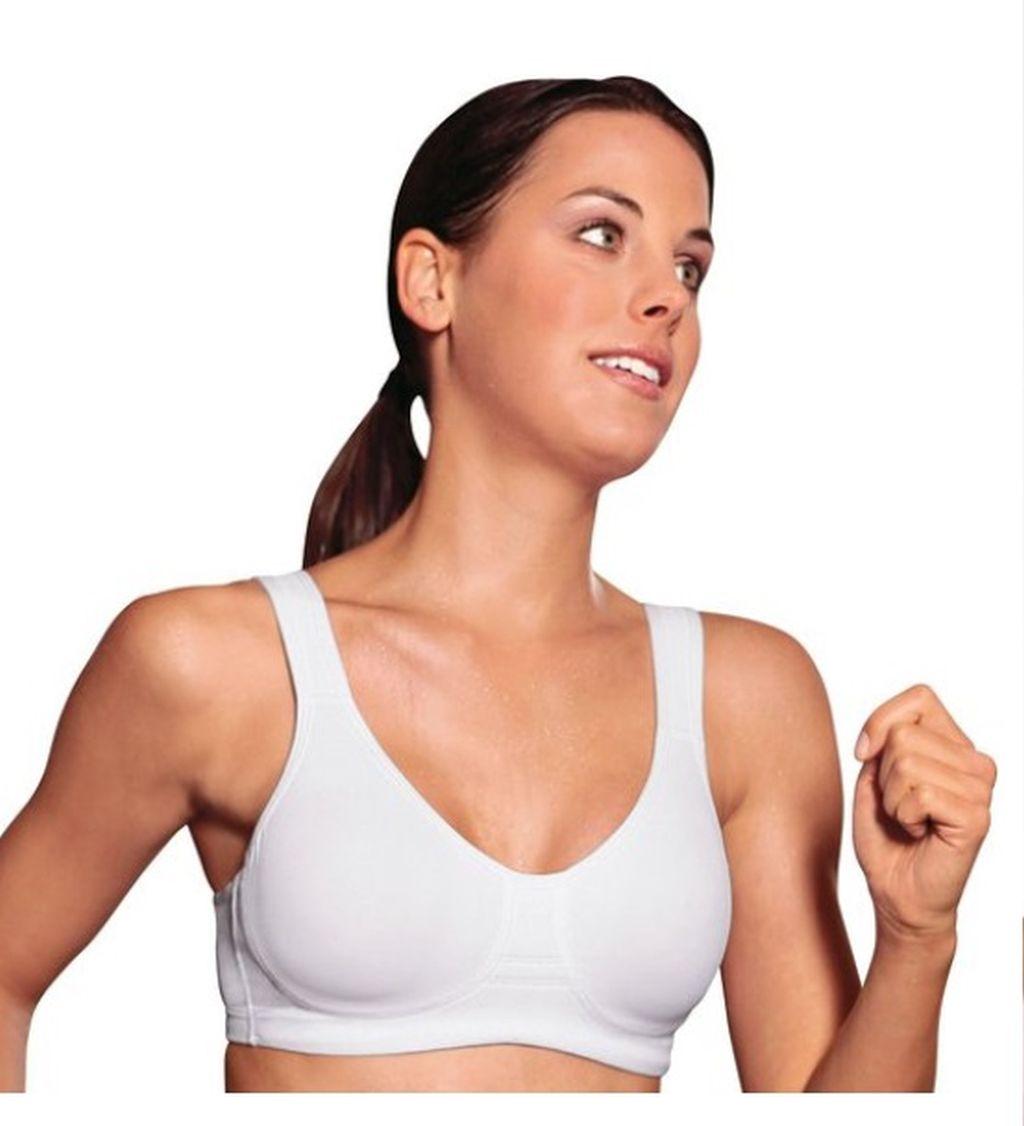 Damen Sport-BH Wellness BH Viania 14750 75-100 B - E weiss schwarz
