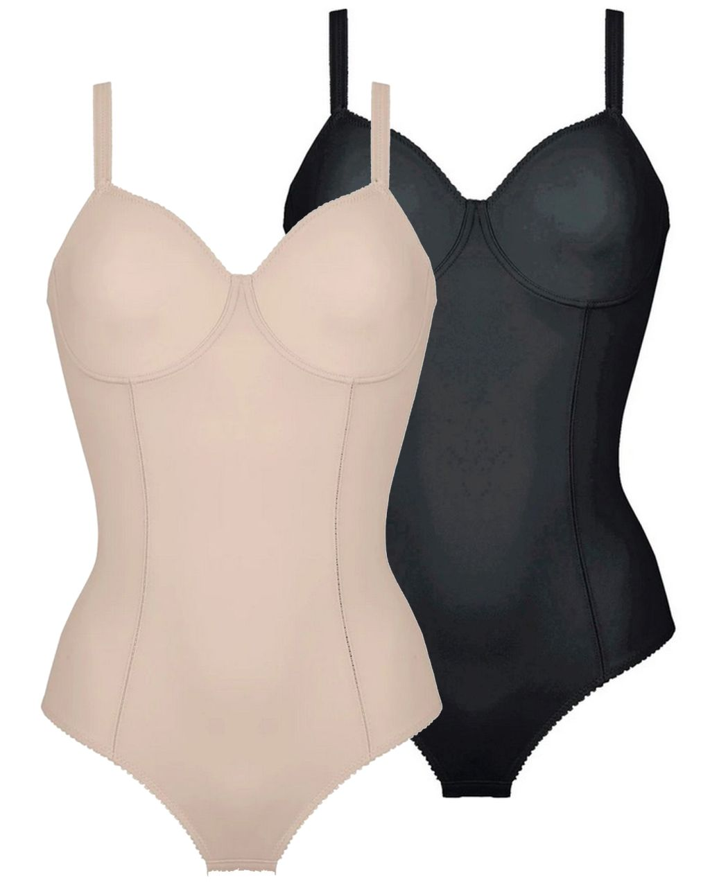 Naturana Solution Shapewear 3260 Bügel-Body mit Bügel haut schwarz 75 - 95 B C D