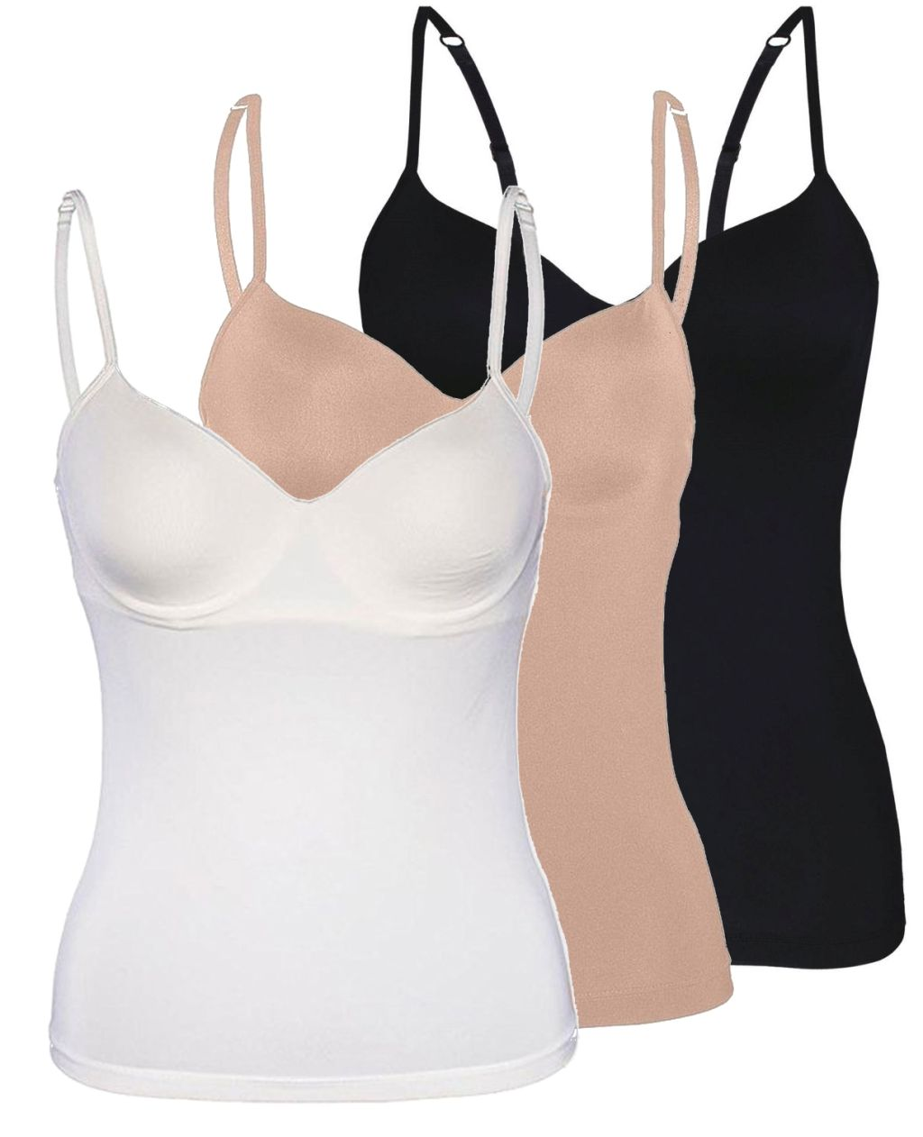 Sassa Damen BH Hemd Unterhemd Shirt Top 70-95  A B C D Elfenbein Schwarz Haut