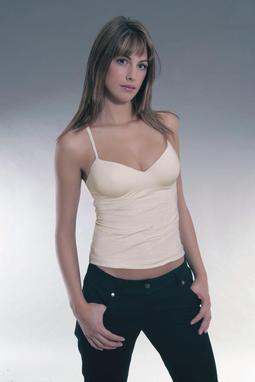 Sassa Damen BH Hemd Unterhemd Shirt Top 70-95 B C D Elfenbein Schwarz Haut