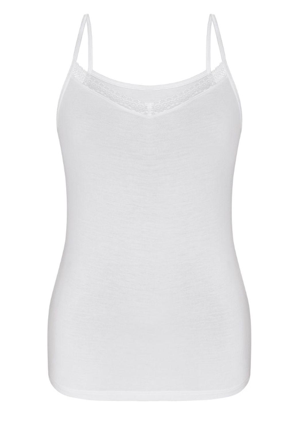 Sassa Damen Top Lovesome Lace Hemd Hemdchen Shirt white navy 36 - 46