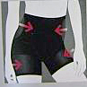 Sassa Unterwäsche Damen Miederhose Shapewear Radler Elfenbein M 75 Neu