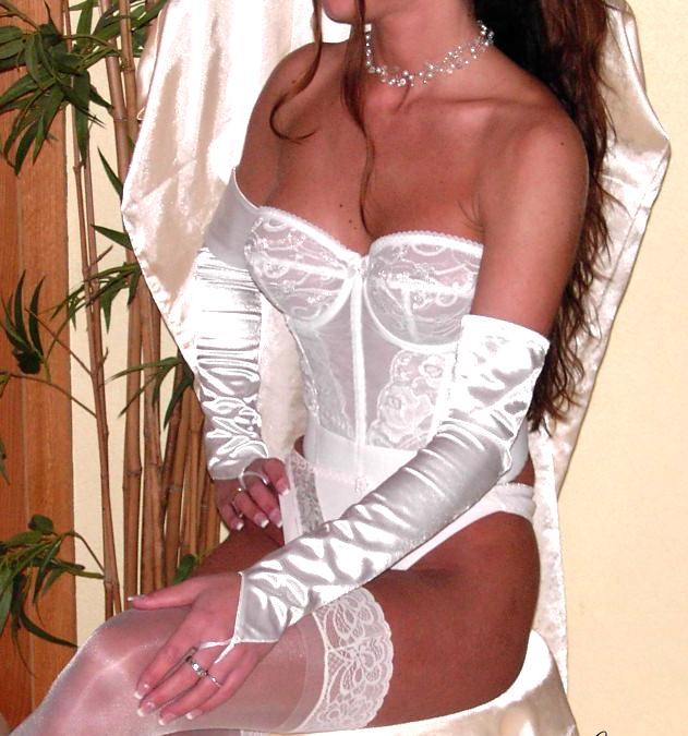 Damen Party Lang Armstulpen Handschuhe Stulpen Sexy Fasching Hochzeit Weiß