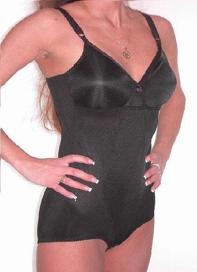 Naturana Miederbody Korselett Body ohne Bügel 3030 schwarz Cup B 80 - 100