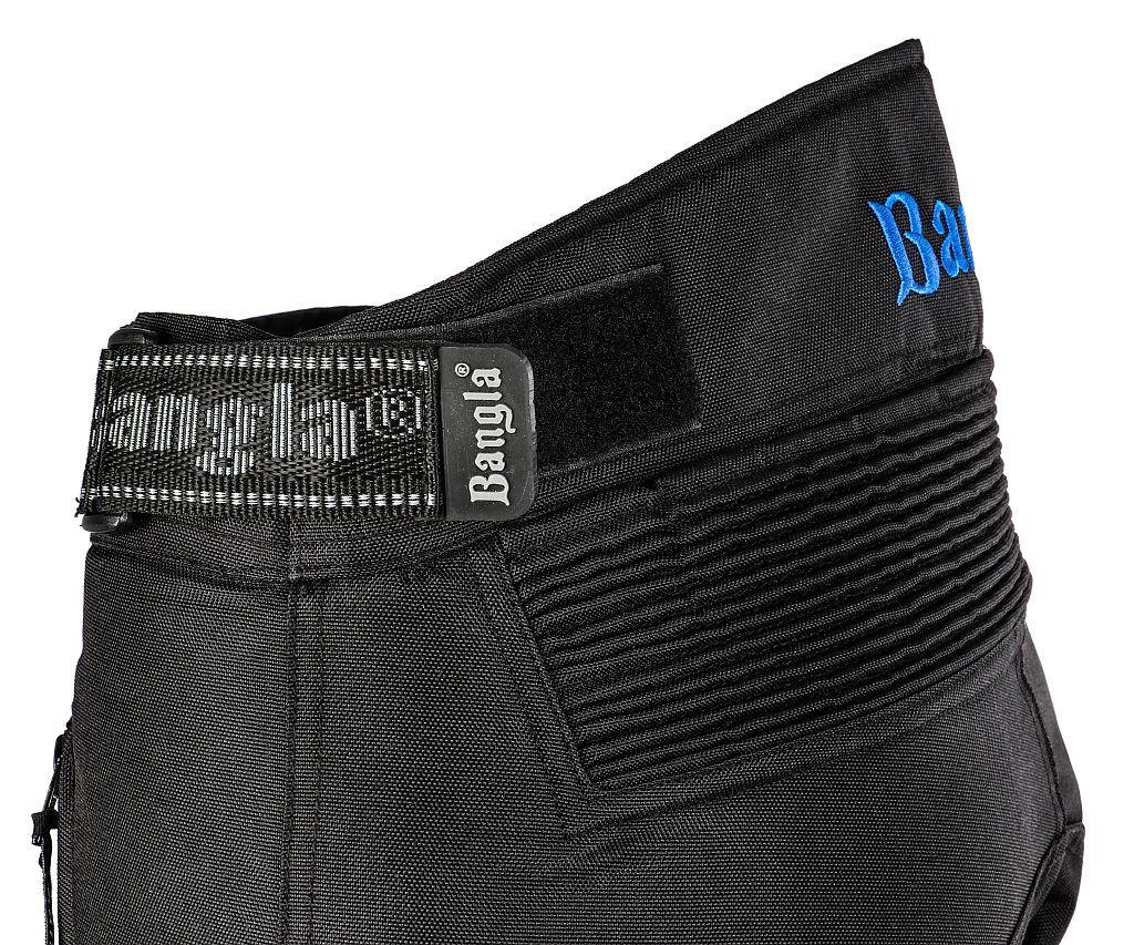 Bangla Kinder Motorrad Hose Kinderhose Textil Schwarz Blau 128 - 176