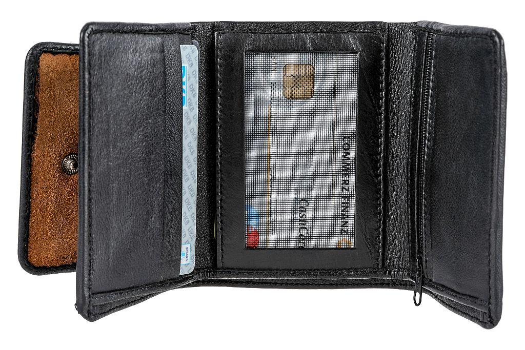 Bangla Geldbörse Portemonnaie Geldbeutel Leder Schwarz 210