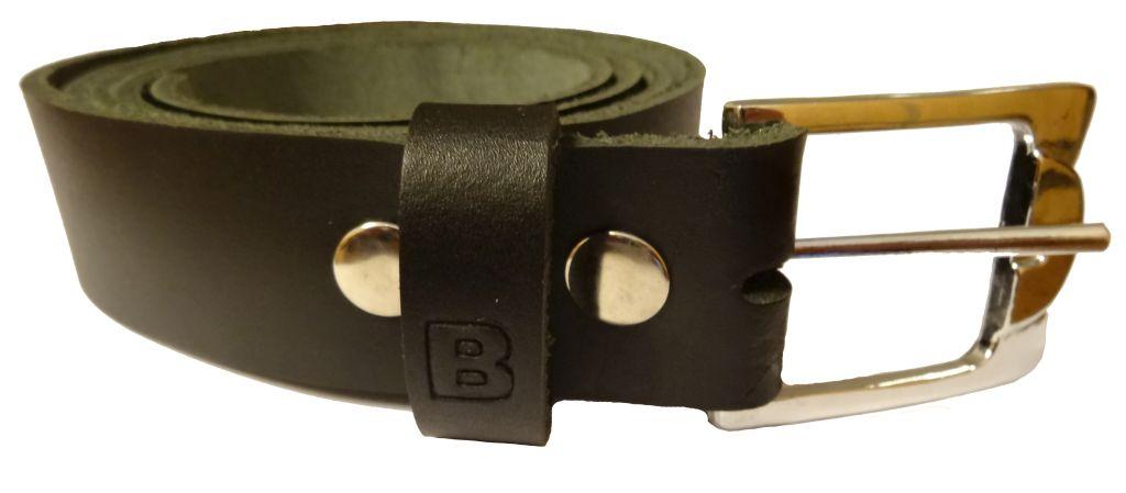 Fashion Gürtel Ledergürtel Überlänge Schwarz Leder 110 - 160 cm 3 cm