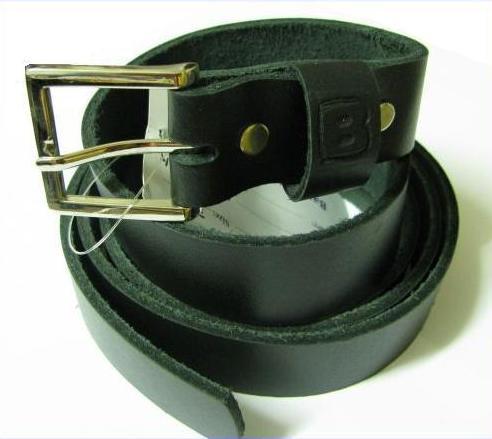 Leder Gürtel Überlänge Schwarz 110 cm Jeansgürtel 4 cm