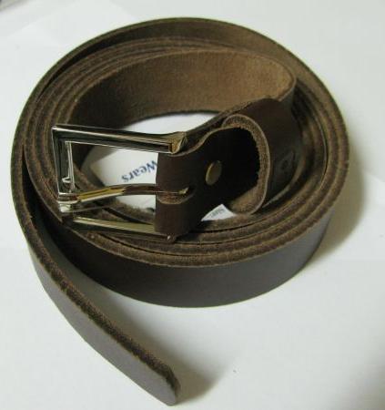 Leder Gürtel Überlänge Braun 130 cm Jeansgürtel 4 cm