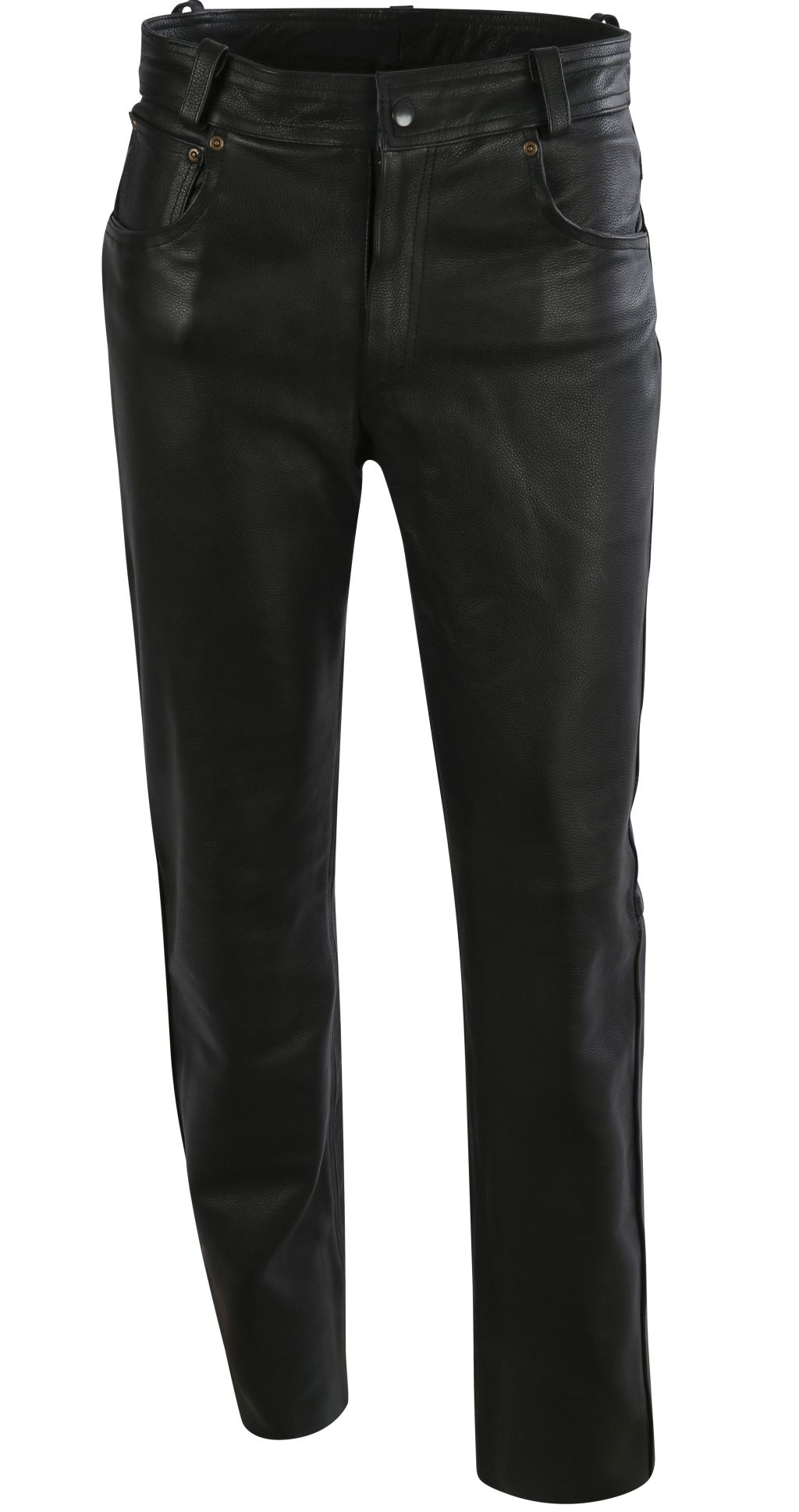 Bangla Herren Lederhose Elegante Lederjeans Biker Jeans Schwarz 36- 46 inch