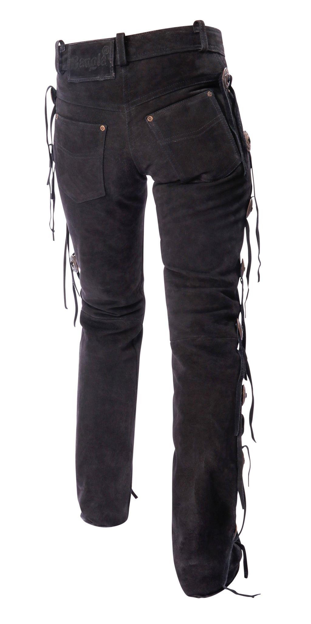 nubuk jeans concho jeans leder hose western motorrad. Black Bedroom Furniture Sets. Home Design Ideas