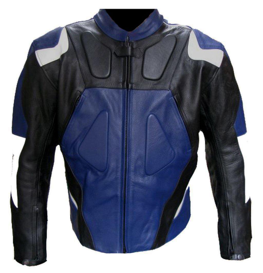bangla sport motorrad leder jacke lederjacke blau weiss. Black Bedroom Furniture Sets. Home Design Ideas