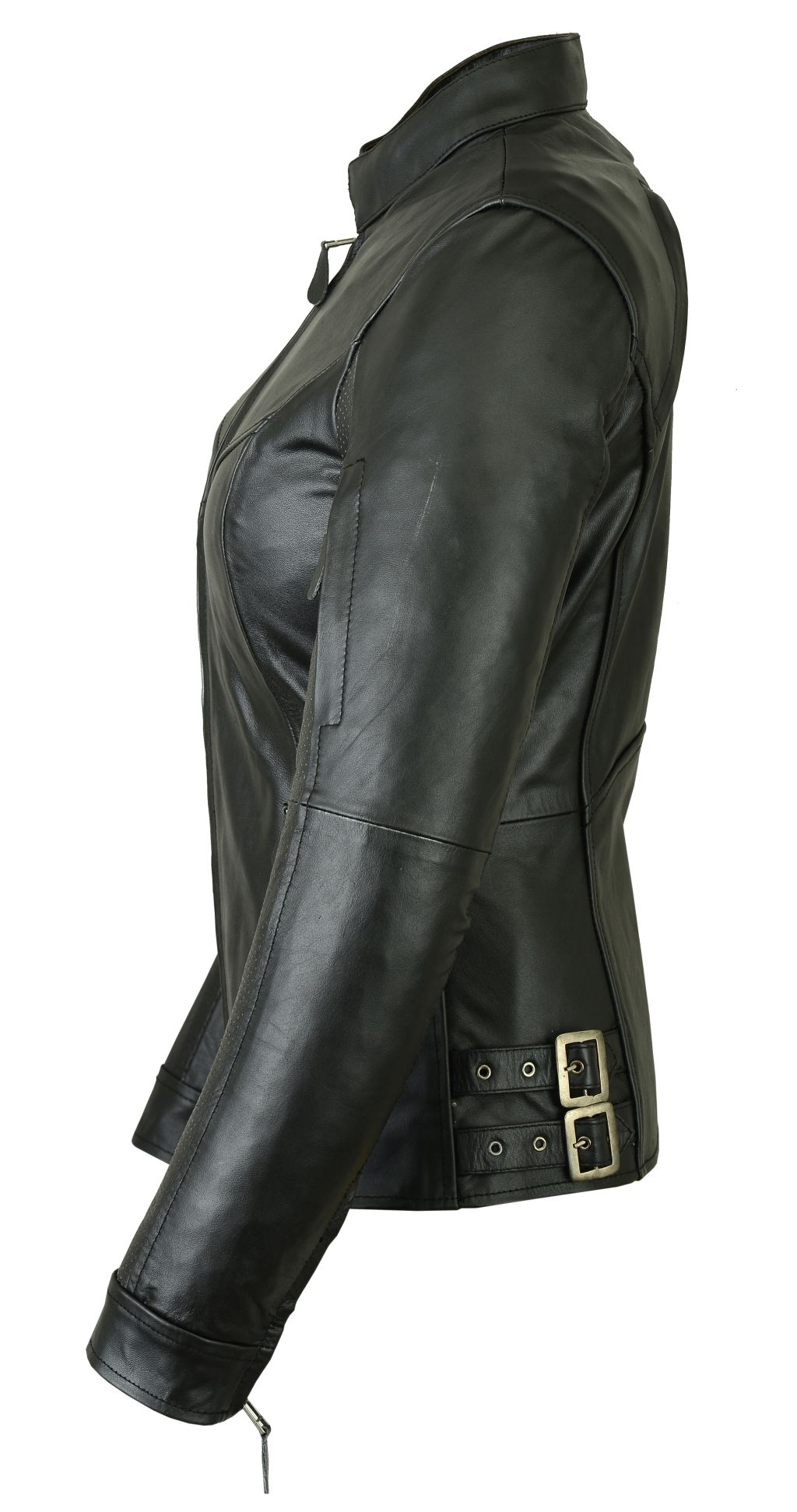 new products ec8f3 fc716 Bangla Damen Lederjacke Leder Jacke Bikerstil schwarz S M L XL