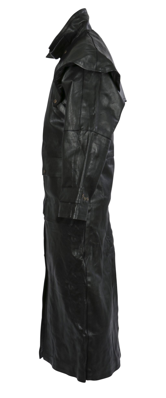 Herren Ledermantel Matrixmantel Mantel SCHWARZ Leder XL