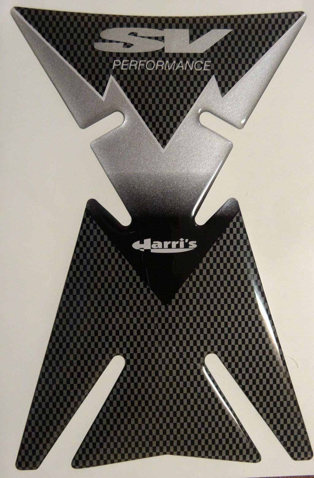 Motorrad Tankpad für Suzuki 650 N / S SV 1000 Carbonlook