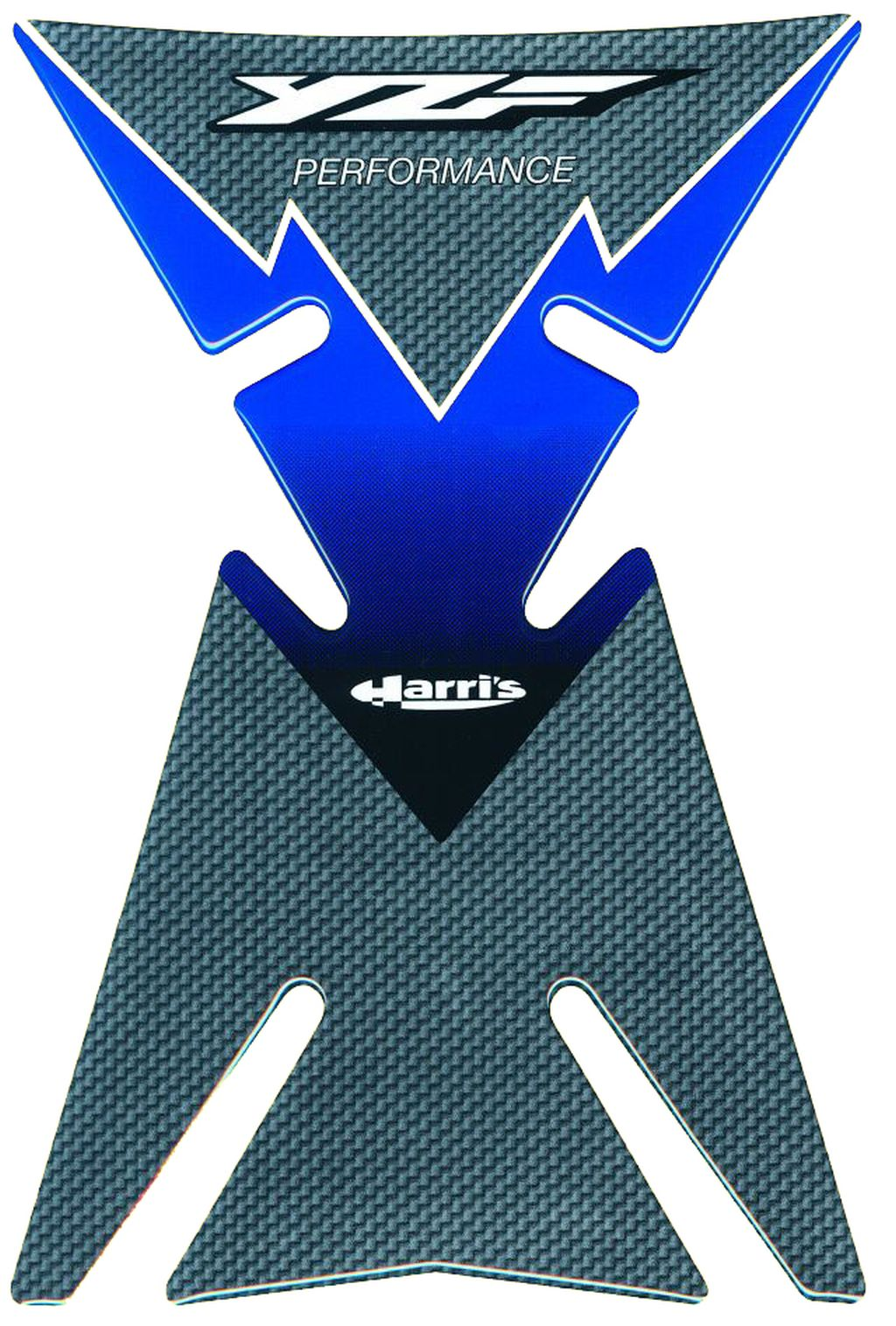 Motorrad Tankpad für Yamaha YZF R 6 750 Blau Grau Carbonlook