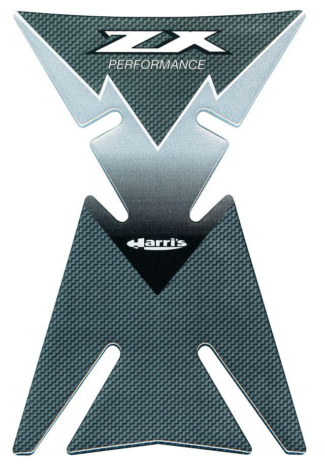 Tankpad für Kawasaki ZX 6 9 10 Grau Carbon Neu Harris