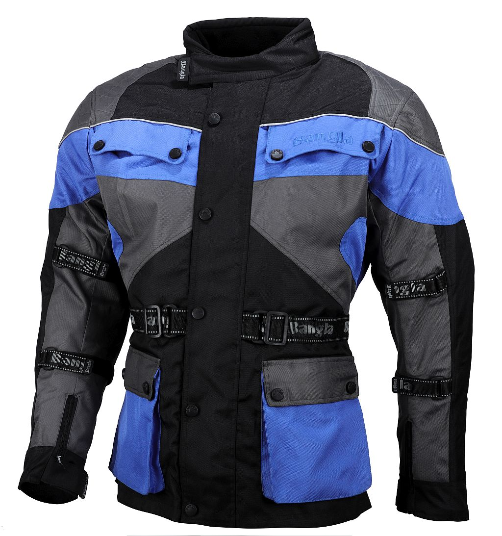 Kinder Motorradjacke Motorrad Jacke Textil Blau 128 140 152 164