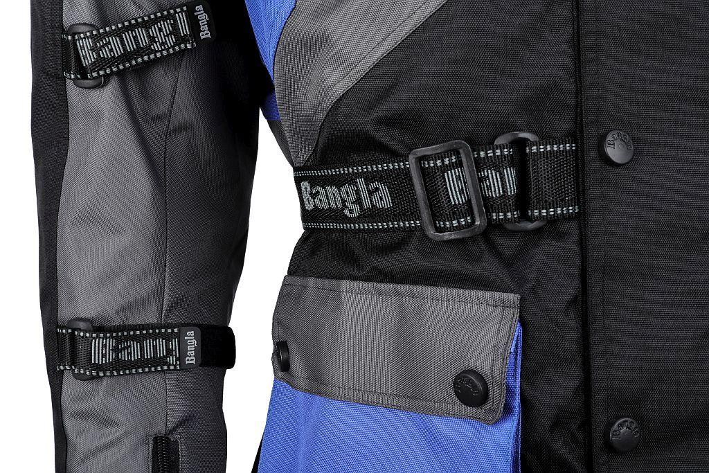 Motorrad Jacke Touren Cordura Motorradjacke Blau schwarz blau S M L