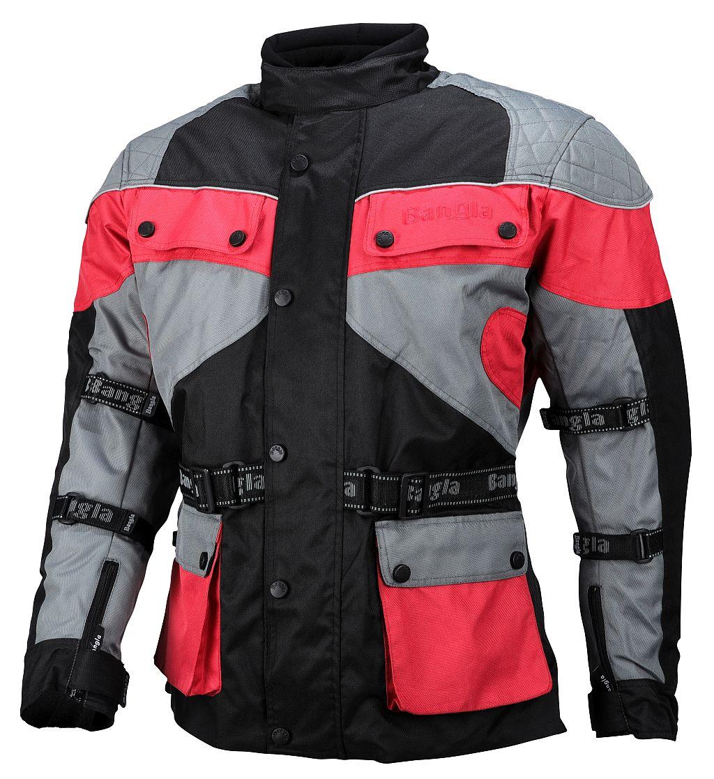 Kinder Motorrad Jacke Motorradjacke Cordura MX Enduro Rot schwarz 128 - 164