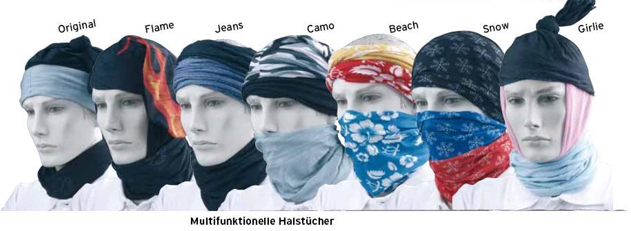 3er Set Sturmhaube Motorrad Mulitfunktionshalstuch Halswärmer Jeans