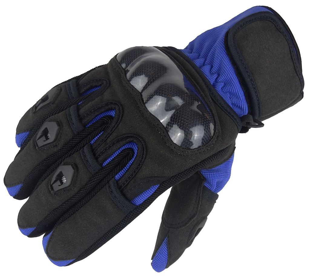 Bangla Motorradhandschuhe Motorrad Handschuh kurz Blau Schwarz S M L XL XXL
