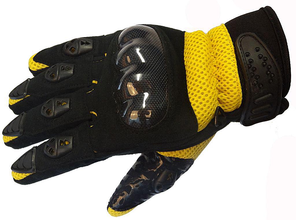 Bangla Motocrosshandschuh Enduro Motorrad Handschuhe schwarz gelb S-XL