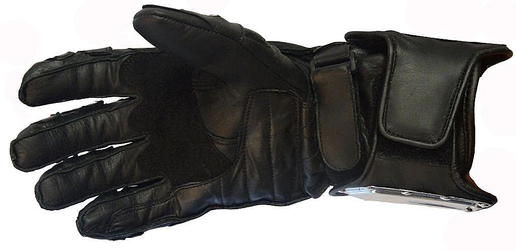 Motorradhandschuh Streetfighter Motorrad Handschuh Custom Schwarz XS - XXXL