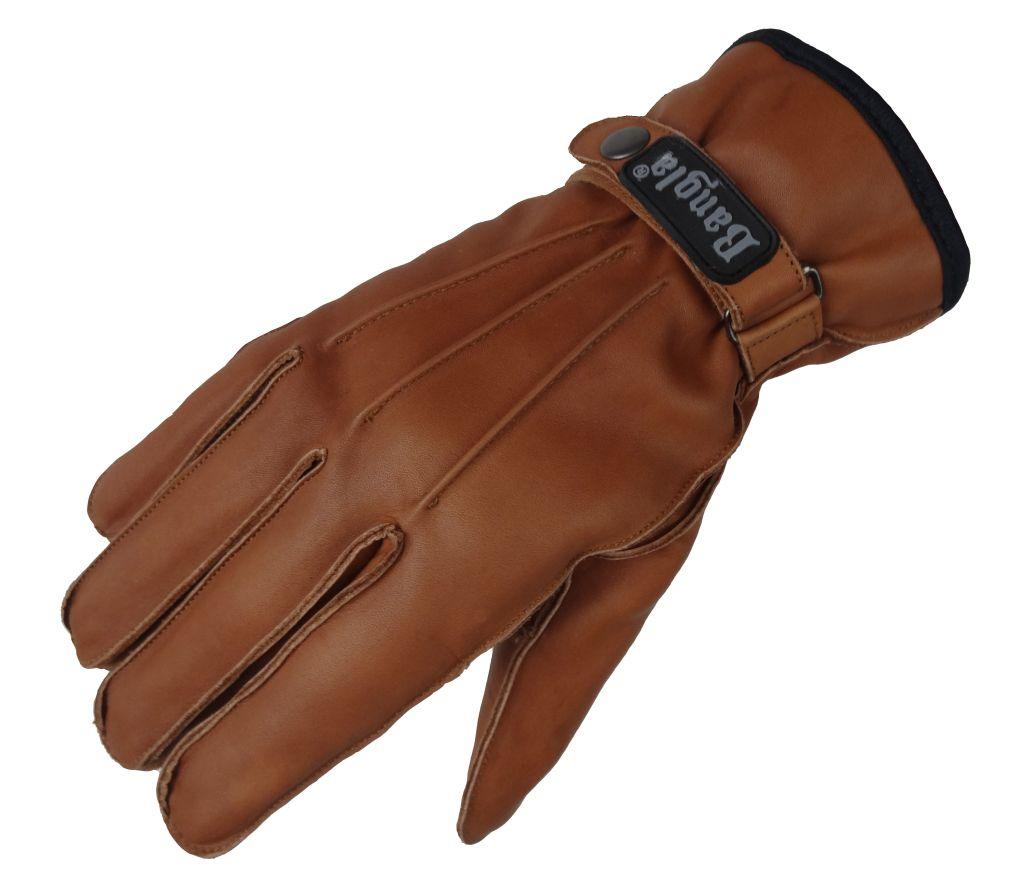 Herren Winter Leder Handschuhe Lederhandschuhe Braun Neu S M L XL XXL XXXL