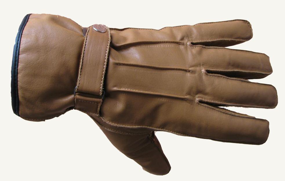 Herren Echtlederhandschuhe  Handschuhe Leder BRAUN Neu Gr S - XXL